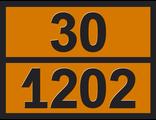 """Информационная табличка опасного груза """"Дизель"""" (30-1202)"""