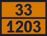 """Информационная рамка опасного груза """"Бензин"""" (33-1203)"""