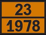 """Информационная сводка опасного груза """"Пропан"""" (23-1978)"""