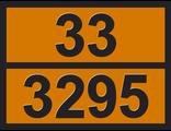 """Информационная рэнкинг опасного груза """"Углеводороды жидкие"""" (33-3295)"""