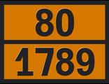 """Информационная рамка опасного груза """"Соляная кислота"""" (80-1789)"""