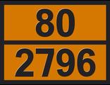 """Информационная рэнкинг опасного груза """"Кислота серная <51%"""" (80-2796)"""