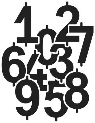 Цифра про информационной таблицы опасного груза (рельефная)